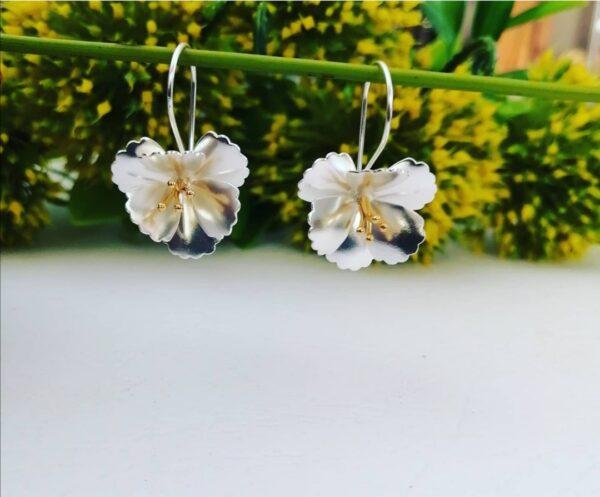 CLEMATIS FLOWER EARRINGS